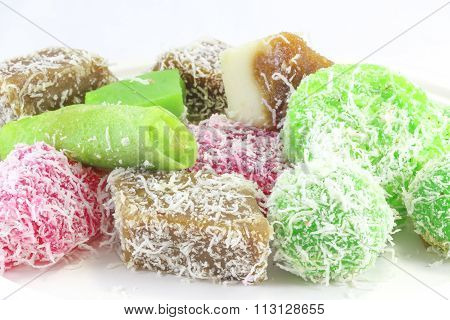 Colorful Kuih Traditional Assorted Mixed Sweet