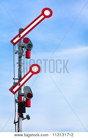 Departure Train Signal shows Go-Ahead