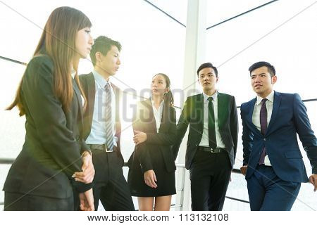 Group of business teammate standing at office