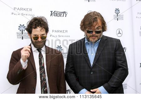 PALM SPRINGS - JAN 3:  Charlie Kaufman, Jack Black at the Variety Creative Impact Awards And 10 Directors To Watch Brunch at the The Parker Hotel on January 3, 2016 in Palm Springs, CA