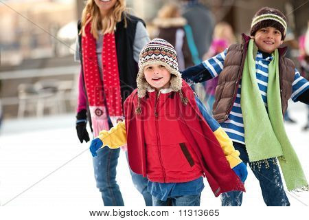 Family day at the ice rink