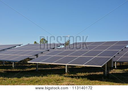 Photovoltaic Solar Energy Panels Farm