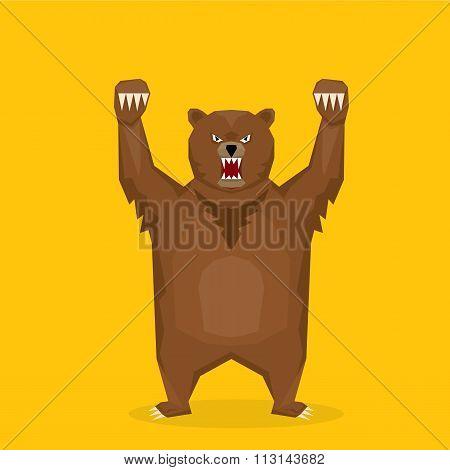 vector cartoon bear