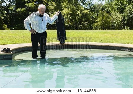 Businessman Holiday Pool