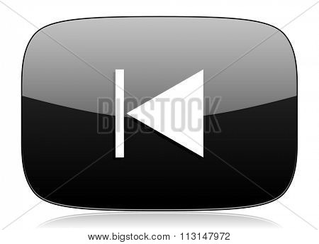 prev black glossy web modern icon
