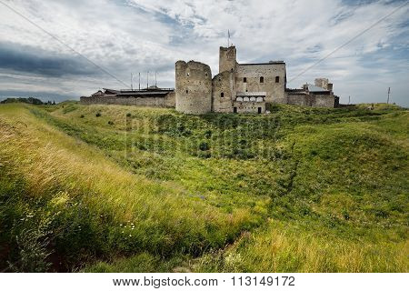 Medieval Castle In Rakvere, Estonia on an overcast day poster