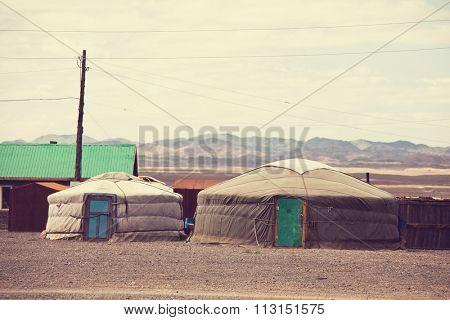 Traditional yurts home of Mongolia