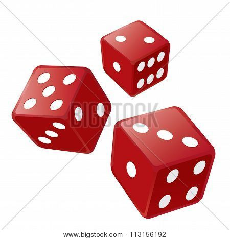 Three Red Dices