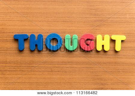 Thought Colorful Word