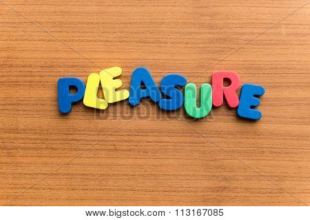 Pleasure Colorful Word
