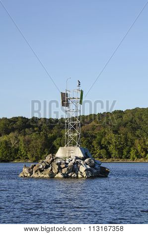 Channel Marker On Connecticut River