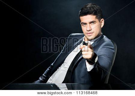 Bossy Man In Suit