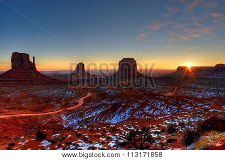 Sunrise Arizona Monument Valley