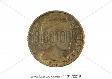 10 Centavos Old Coin Of Argentina (1950)