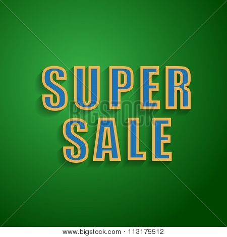 Super Sale  background for your promotional posters, advertising shopping, discount banners.