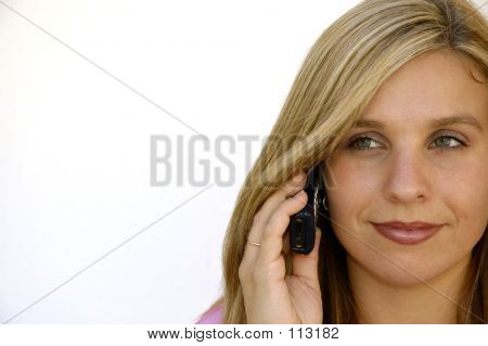 Attractive Woman On Cell Phone