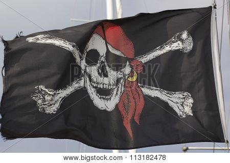 Jolly Roger Black Pirate Flag