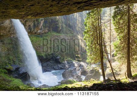 Waterfall Over Cave
