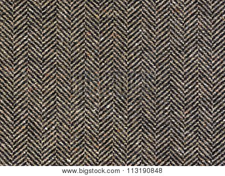 Herringbone Tweed Background With Closeup