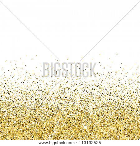 Vector gold glittering abstract background