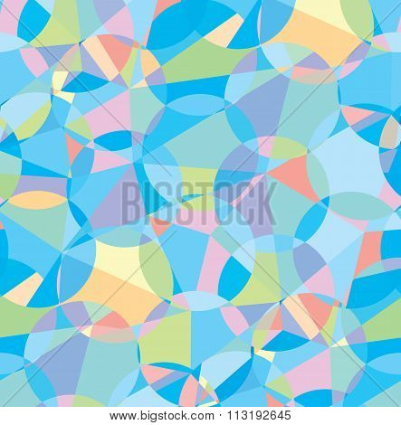 Seamless colorful geometric vector pattern background