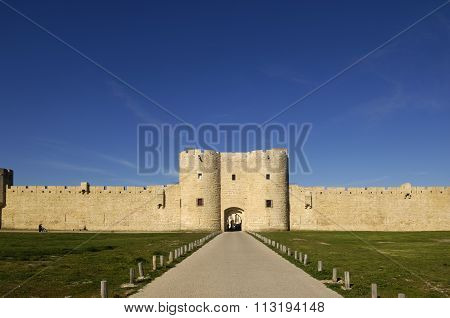 Walls Of Aigues-mortes, Camargue, France