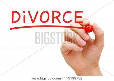 Divorce Red Marker