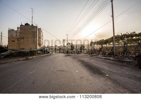 Suburbs Of Hebron After Riots, Palestinian Autonomy