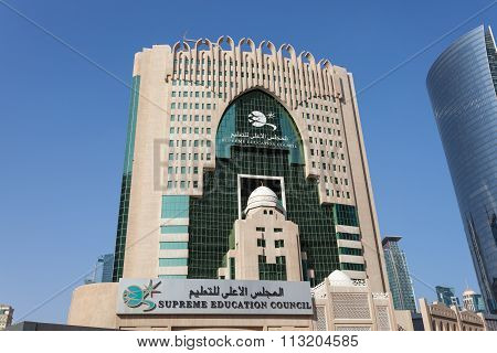 Supreme Education Council Building In Doha