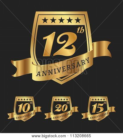 Golden Anniversary Badge Labels