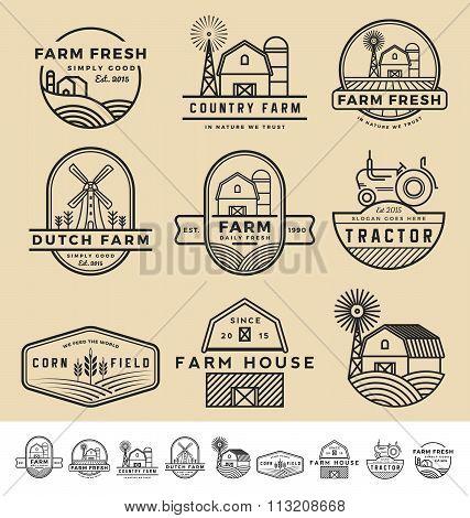 Vintage And Modern Farm Badge Logo