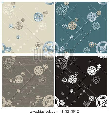 Pinion seamless patterns
