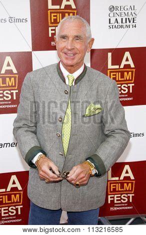 LOS ANGELES, CALIFORNIA - June 14, 2012. Frederic Prinz von Anhalt at the 2012 Los Angeles Film Festival premiere of