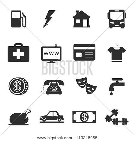 Monthly costs icons