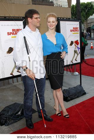 Deborah Ann Woll and E.J. Scott at the Los Angeles premiere of