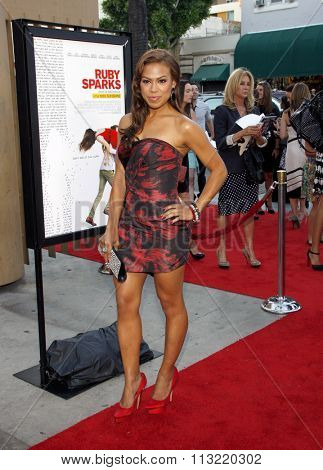 Toni Trucks at the Los Angeles premiere of