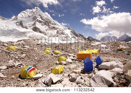 Everest base camp, Khumbu himal Nepal