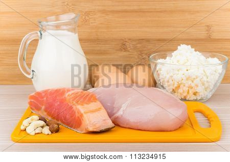 Products Sources Of Protein And Unsaturated Fatty Acids