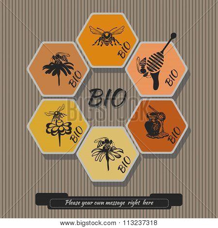 Set honey labels 2
