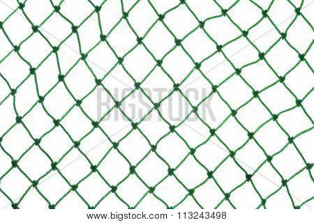 Green Net On White Background