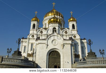 Moscow orthodox cathedral of Jesus Christ Saviour.