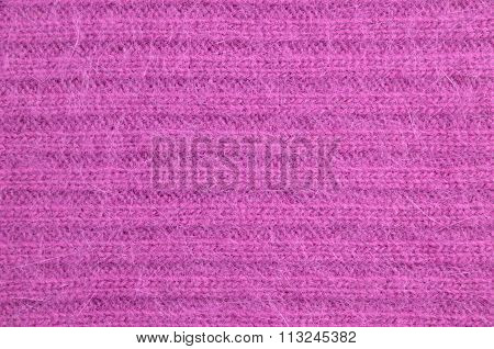 Close Up Of Cozy Fuchsia Mohair Sweater