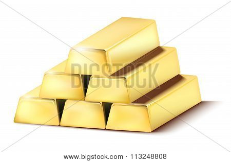 Pile Of Shiny Gold Bars