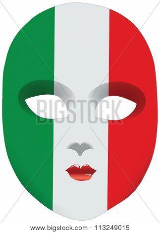 Mask Flag Italy