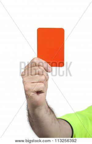 Referee Hand With Red Card