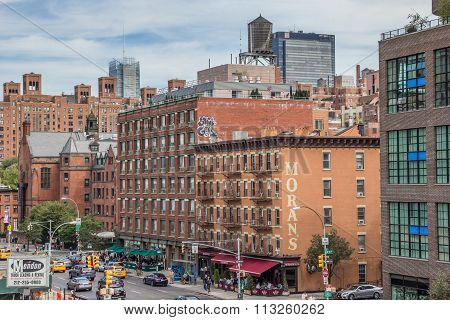 View From The High Line In Chelsea, New York