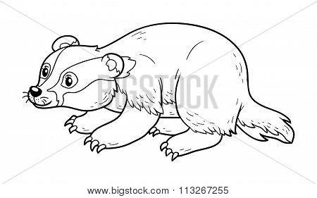 Coloring Book (badger)