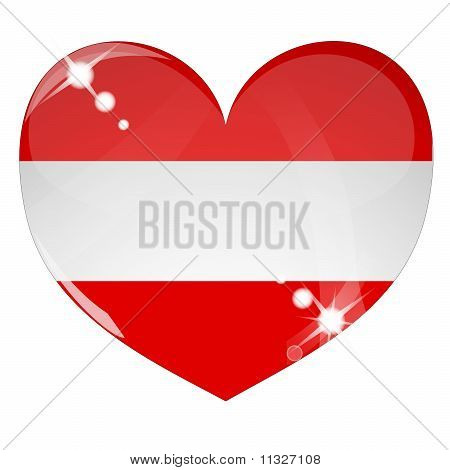 Vector heart with Australia flag texture