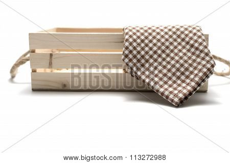 Kitchen Towel In Wood Box