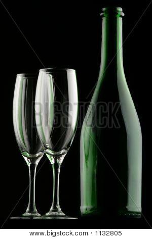 Glasses & Bottle